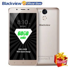 "Blackview P2 lite 4G Smartphone 5.5"" FHD MTK6753 Octa Core Android 7.0 3GB RAM 32GB ROM 13MP 6000mAh Fingerprint ID Mobile Phone"