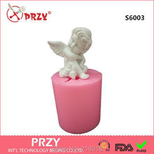 3D Silicone mold soap mold Cupid angel candle mold handmade cute baby diy for cake decorations S6003