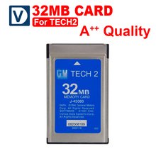 Free Shipping 32MB CARD FOR GM TECH2 6 kinds software original for gm tech 2 32mb card 32 MB Memory Tech 2 Card(China)
