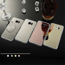 Luxury Transparent Hybrid Mirror Soft Cover For Samsung Galaxy S7 Edge Huawei P8 P9 Lite Silicone Frame + PC Soft Phone Cases