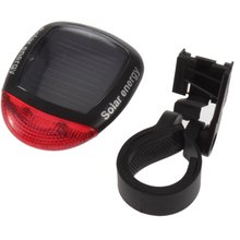 Waterproof Bike Light 2 LED 4 Mode Solar Powered Rear Flashing Tail Light for Bicycle Cycling Lamp Safety Warning Flashing Light(China)