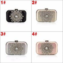 New Single Side Sun Diamond Crystal Evening Bags Clutch Bag Hot Styling Day Clutches Lady Wedding Woman Bag 40