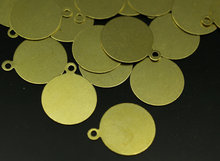 100 pcs Raw brass Tags, (16 mm) brs 89