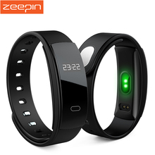 Zeepin QS80 Bluetooth Smart Band Heart Rate Monitor Smart Wristband Bracelet Blood Pressure Fitness Tracker for IOS Android 2017
