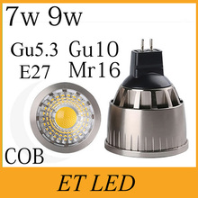 Super Bright 7W 9W Dimmable LED COB Spotlight E27 MR16 GU10 Bulb Lamp Light AC 220V 110V 12V Replace Halogen Nature 4000K FCC(China)