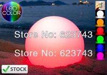Magic RGB led Ball outdoor diameter 25 CM rechargeable,Glowing Sphere,waterproof pool color changing LIGHT BALL(China)