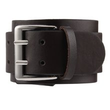 GENBOLI Leather Bracelet Vintage Big Wide Bracelet Men Women Belt Cuff Bangles Adjustable Buckle Wristband Punk Jewelry Brown