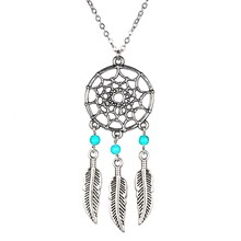 TOMTOSH New Fashion accessories jewelry Dream catcher leather pendant necklace gift for women girl wholesale