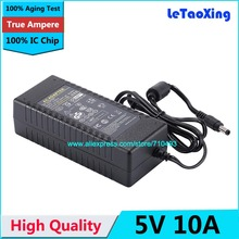 With IC Chip AC DC 5V 10A Power Adpater Supply 50W Charger Transformer For LED Strip Light CCTV Camera 1pcs