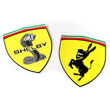 Wholesale Car Sticker Shelby Mustang Snake Car Styling Donkey 3M Vinyl Wrap Decal Die Cut 3D Body Sticker Pegatinas Aufkleber