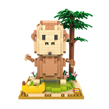 DIY Mini Building Nano blocks,model,children gifts,Educational toys,cute,funny,9850,monkey,father,cartoon role series,LOZ Blocks - Family Center Toys Co., Ltd store