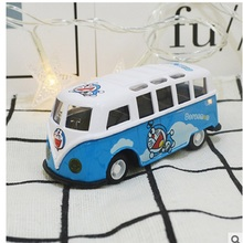 TOMLOV Carton Doraemon style Mini bus toy for baby child 1:55 over 3 years old(China)