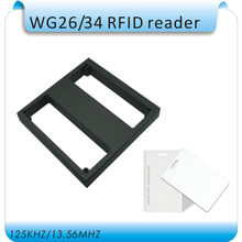 DIY waterproof 50-100cm Induction distance EM 125KHZ Long Range RFID WG26 Reader for Access Control+10pcs thick cards