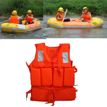 Professional Adult Working Life Jacket Foam Vest Survival Suit + Whistle Outdoor Swimwear Water Sport Swimming Drifting Fishing