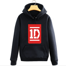 New One Direction hoodie 1D ROck men hooded Fall and Winter Cotton Jacket Sweatshirt Coat(China)
