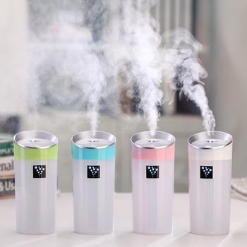 Humidificador ultrasónico de 300 ml, Mini humidificador USB de auto, difusor de aceites esenciales con aroma, productor de vapor de aromaterapia para casa y oficina