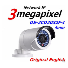 HIK 3MP HD IP camera Original English DS-2CD2032F-I True Day / Night Low Illumination Video Output IR Bullet Network Camera
