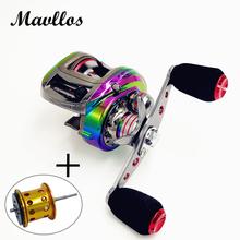 Mavllos Aluminum Alloy Carbon Body Brand Saltwater Fishing Baitcasting Reel 6.3:1 Left Right Hand Bait Casting Low Profile Reel
