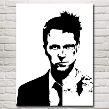 Classic Movie Fight Club Film Art Silk Poster Brad Pitt Edward Home Decor Pictures 12x16 18x24 24x32 30x40 Inches Free Shipping(China)