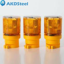 AKDSteel Solar Powered 6 LED Traffic Strobe Warning Lights Flicker Beacon Road Barricade Construction Sign Strobe Lamp zk30(China)