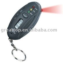 Free shipping 3 set led alcohol tester with keychain