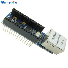 Free Shipping Nano V3 Ethernet Shield ENC28J60 Microchip HR911105A Ethernet Webserver Board Module for Arduino Nano 3.0(China)