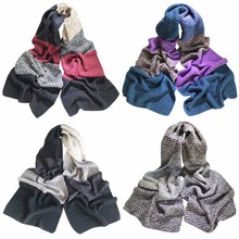 Winter Autumn Thick Cable Knitted Scarf Women Men Imitate cashmere Knitting Wrap Chunky Warm Scarf  bufandas cuellos All Colors