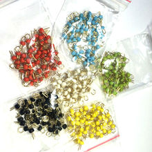 300PCS Six colors*50 PCB board test points / test beads / gold plated ceramic test loop / circuit board test pin /(China)