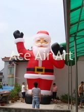 inflatable Christmas party decoration inflatable Santa Claus waving to us