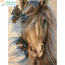 Zhui Star 5D DIY Full Square drill Diamond Painting Cross Stitch Brown horse Diamond Rhinestone Embroidery Mosaic home decor(China)