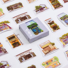 45 pcs/lot mini house sealed paper sticker DIY decoration sealed envelope Scrapbooking Sticker Stationery kawaii label stickers(China)