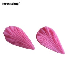 Leaf Shaped Silicone Press Mold Cake Decoration Fondant Cake 3D Food Grade Silicone Mould  C344