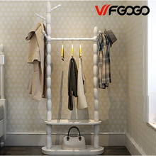 WFGOGO Home Furnishing Solid wooden Living Coat Rack Stands Scarves Hats Bags Clothes Shelf Shoe rack