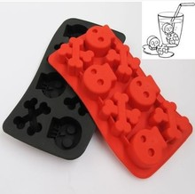 1 pc Skull Ice box silicone ice cube ice cream styling tools cool mold brain freeze/frozen cooking tools free shipping