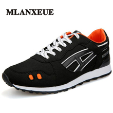 Mlanxeue Brand New Men Fashion Comfortable Sports Casual Shoes Lightweight Breathable PU Men Shoes Lace-Up Male Leather Shoe(China)