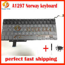 "10pcs/lot Brand New LAPTOP Norway KEYBOARD FITS for MacBook Pro 17"" Unibody A1297 Keyboard Nordic North Europe Norwegian(China)"