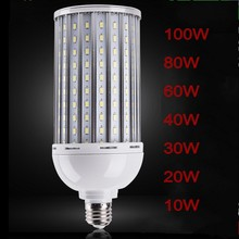E27 High Bright 100W 80W 60W 40W 30W Aluminum Plactic PCB Cooling 5730 SMD LED Corn Bulb 220-265V No Flicker LED lamp Spot light