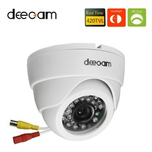 Deecam Sony ccd 420TVL IR Lens 3.6mm Distance 20M CCTV Indoor Dome Security Camera Home Surveillance Camera camaras de seguridad