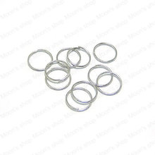 Wholesale Diameter 10mm Thickness 1mm Imitation Rhodium Round Iron Jump Rings DIY Findings 50g Roughly 300 pieces(JM3058)