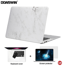 DOWSWIN for macbook air 13 case 13.3 inch PC Marble Pattern+ back cover case for macbook air 13 for macbook pro 13 15 12 retina(China)