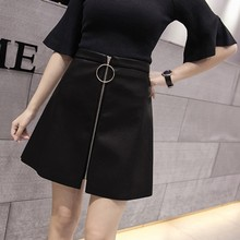 Buy 2018 Sexy Black Zipper Short Skirt Women High waist PU Leather Pencil Mini Skirt Ladies Vintage Retro Office Casual Skirts for $11.33 in AliExpress store
