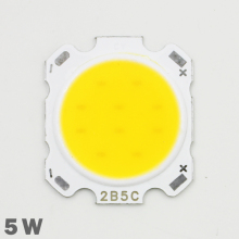 10pcs LED COB Lamp Chip 5W 300-350lm DC 15-18V Chip Input 28mm Chip Size Fit For DIY LED Floodlight Spotlight Cold/Warm White