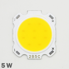 10pcs LED COB Lamp Chip 5W 300-350lm DC 15-18V Chip Input 28mm Chip Size Fit For DIY LED Floodlight Spotlight Cold/Warm White(China)
