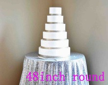 72'' Round Silver Sequin Tablecloth,wholesale Wedding Beautiful Sequin Table Cloth / Overlay /Cover