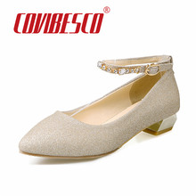 Fashion Rhinestone Shoes High Heels Shoes Women Pumps Sexy Wedding Party Shoes Gold Silver Black Mary Jane Pointed Toe Prom Pump