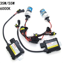 Slim Ballast Kit HID Xenon Bulb 12V 35W 55W H1 H3 H4-3 H7 H11 9005 9006 880 881 Auto Car Light Source Xenon Headlight 6000K(China)