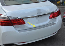 steel outside rear bumper protector step scuff plate cover For Honda Accord 9 2013 2014 2015