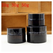 High Quality Glass Jar With Lid of Black,Beauty Skin Care Face Cream Jar,Empty Cosmetics Packaging Container,Sample Bottle