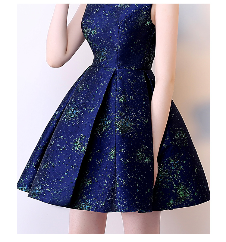 SOCCI Short Bridesmaide Dresses 2017 A-Line Real Photo Girls Homecoming Dress Sleeveless Blue Special Occasion Prom Party Gown 9