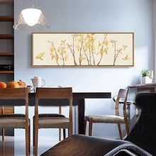 Bedroom dining room living room decorated with modern Chinese painting by Chinese artist orchids roll long banner flower paint